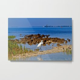 The Life Of An Egret Metal Print