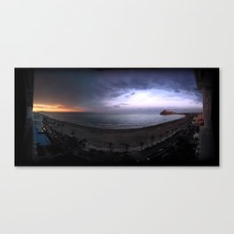 Two-colored sunset Canvas Print
