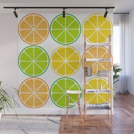 Citrus fruit slices Wall Mural