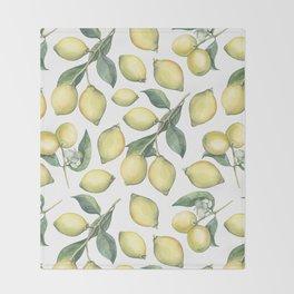 Lemon Fresh Throw Blanket