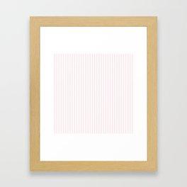 Light Soft Pastel Pink and White Mattress Ticking Framed Art Print