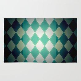 Green diamond pattern Rug