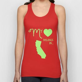 My Heart Belongs in California Unisex Tank Top