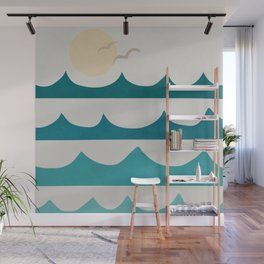 Abstract Waves Wall Mural
