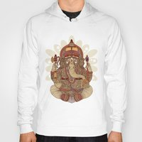 valentina Hoodies featuring Ganesha: Lord of Success by Valentina Harper