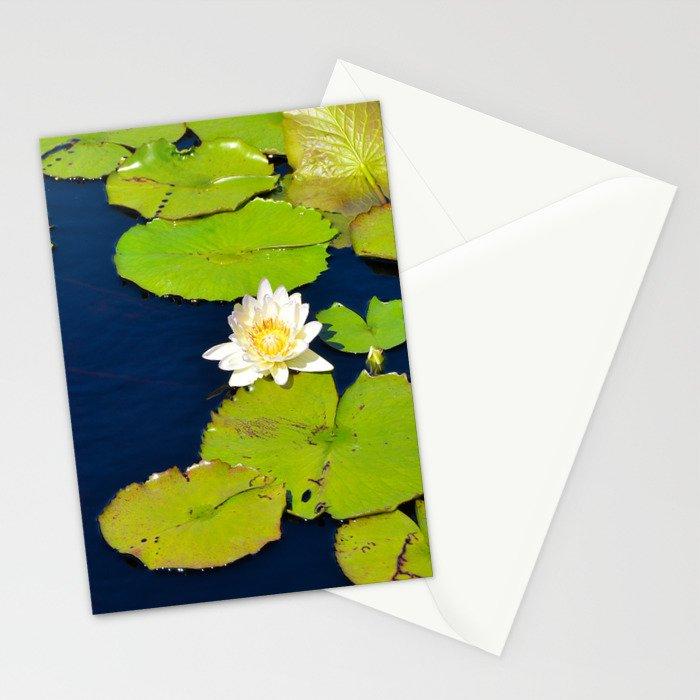 Dark Blue Pond by Teresa Thompson Stationery Cards
