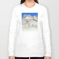 rushmore Long Sleeve T-shirts featuring Mount Rushmore by astultz23
