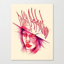 Inky Addiction Canvas Print