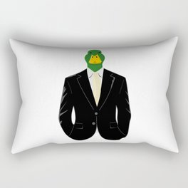Duck in Suit Rectangular Pillow