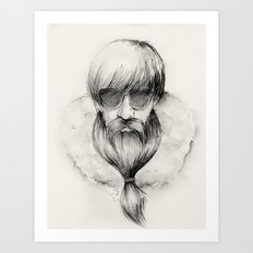 homeless hipster Art Print