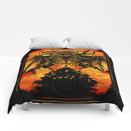 Winged God Monster Comforters