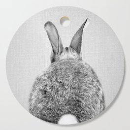 Rabbit Tail - Black & White Cutting Board
