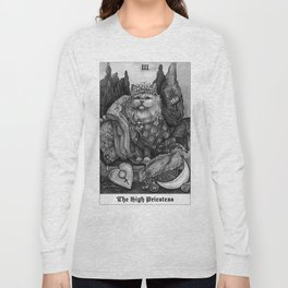 The Empress - Cat Tarot card Long Sleeve T-shirt