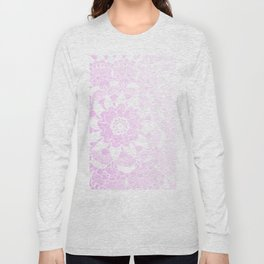 Bohemian Chic and Pretty in Pink Mandala Long Sleeve T-shirt