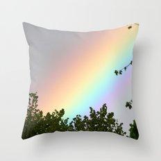 Pastel Natural Rainbow Throw Pillow