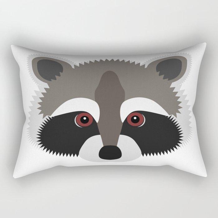 Raccoon Face Rectangular Pillow
