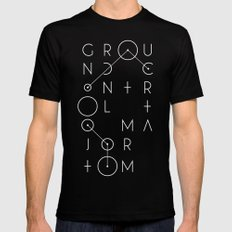 Ground Control SMALL Mens Fitted Tee Black