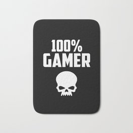 gamer logo and quote Bath Mat