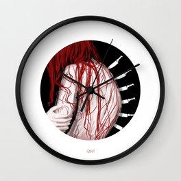 Six Knifes, Seven Lives Wall Clock