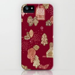Hansel and Gretel Fairy Tale Gingerbread Pattern iPhone Case