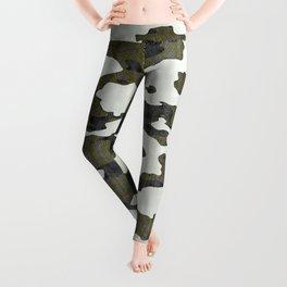Urban Camouflage Retro Grunge Pattern Leggings