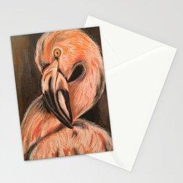 Flamingo Art Flamingo Print Flamingos Stationery Cards
