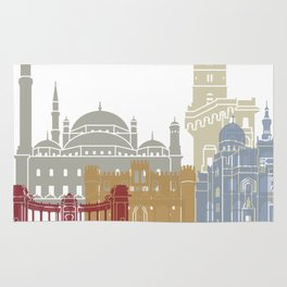 Alexandria skyline poster Rug