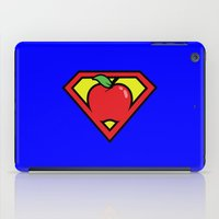 teacher iPad Cases featuring Super Teacher by David Rodriguez Jr