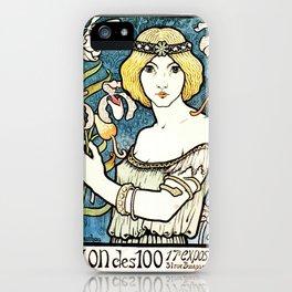 Paul Berthon Salon Des Cent Vintage Art Nouveau iPhone Case
