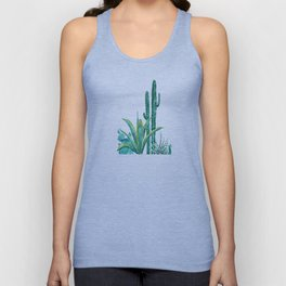 cactus jungle watercolor painting 2 Unisex Tank Top