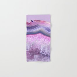 Ultraviolet and Pink Agate Hand & Bath Towel
