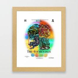 Mysticx & Magick: The Japanese Elemental Gods - Art Cover Framed Art Print