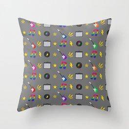 Punk Rock Rainbows Throw Pillow