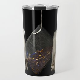 Teabags Hanging in the Air Travel Mug
