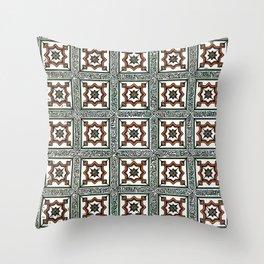 Floor Series: Peranakan Tiles 5 Throw Pillow