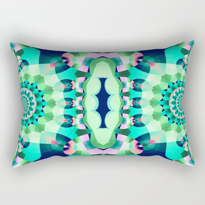 Modern Abstract Pillow : Modern Geometric Abstract Rectangular Pillow by walstraasart Society6