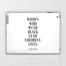 Fashion Poster I Wear Only Black Printable Quotes Women Gift Gift For Her Girls Room Decor fashion Laptop & iPad Skin