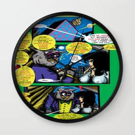 Bird of Steel Comix – 6 of 8 (Society 6 POP-ART COLLECTION SERIES)   Wall Clock