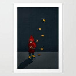 Boy in red hod Art Print