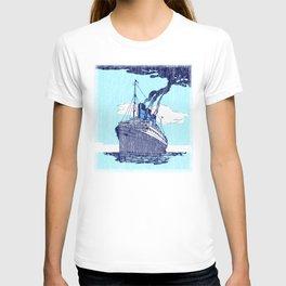 Ship background T-shirt