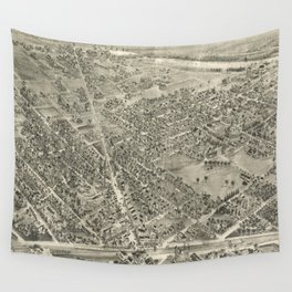 Vintage Pictorial Map of Rutherford NJ (1904) Wall Tapestry