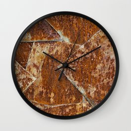 Abstract rusty background Wall Clock