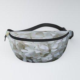 white flower Fanny Pack