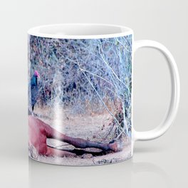Sleeping Horse with birds Coffee Mug