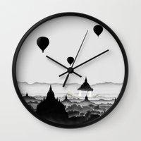aurora Wall Clocks featuring Aurora by Florent Bodart / Speakerine