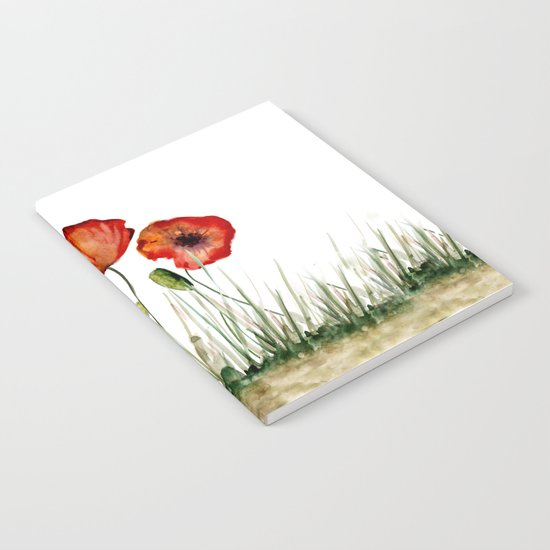 Red poppies Notebook