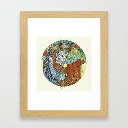 Masked Lynx Framed Art Print