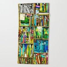 Bookshelf Fantasy Beach Towel