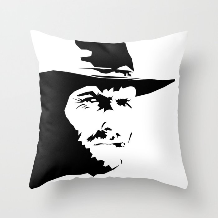 Blondie Clint Eastwood Throw Pillow By Ariannoveir Society6
