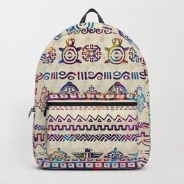 Maya / Aztec Gentle Watercolor pattern Backpack